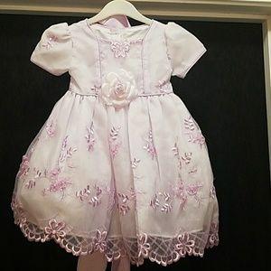 girls short sleeve lavender dress with. Bonette